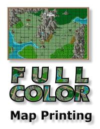 full color large format map printing service