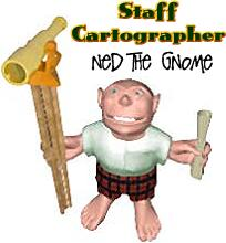 Ned the Gnome - our staff cartographer