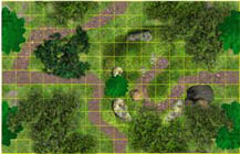 Woodland Path - Endless Terrain Battlemap sample